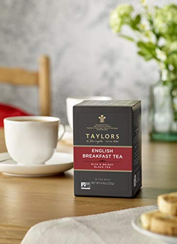 Taylors of Harrogate English Breakfast, 50 Teabags (Pack of 6)