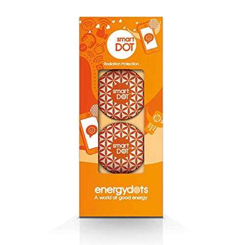 smartDOT EMF Radiation Protection - Protect from Wireless Radiation emitted by Cell Phones, Laptops, Wi-Fi Routers - Pack of 2 by energydots