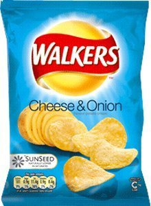 Walkers Cheese and Onion Crisps - 1.2 oz - 6 Pack