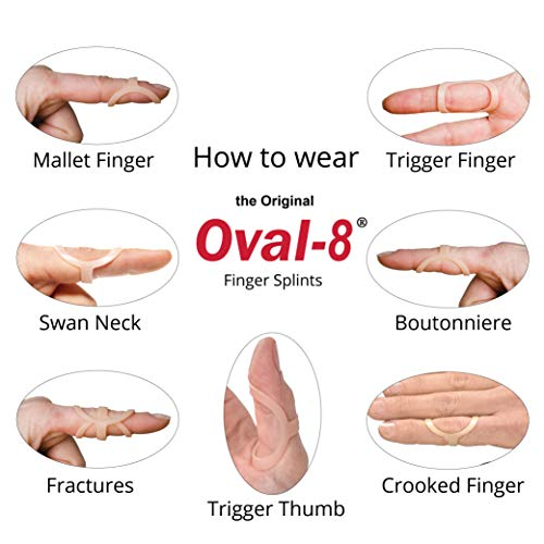 3-Point Products Oval-8 Finger Splint Graduated Set - Sizes 6, 7, 8