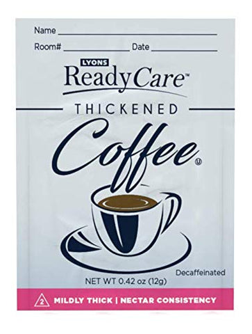 yons ReadyCare Thickened Hot Coffee Packets for Dysphagia & Swallowing Difficulty - Nectar Consistency, Level 2 Mildly Thick (75 Pack)