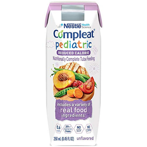 Compleat Pediatric Reduced Calorie 8.45 oz. Carton Ready to Use Unflavored Ages 1-13 Years, 10043900380749 - Sold by: Pack of One