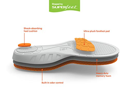 Go Comfort Work Insole, Orange, 5.5 8 Men / 6.5 9 Women