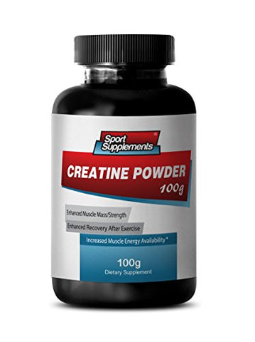 Monohydrate Creatine Powder - Creatine Powder 100mg - Promote Strength and Muscle Growth with Creatine Powder (1 Bottle)