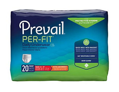 FQPFM512 - Prevail Per-Fit Protective Underwear for Men, Medium fits 34 - 46