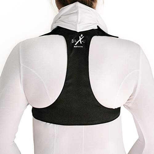Posture Corrector for Men and Women | Adjustable and Comfortable Upper Back & Shoulder Support Brace | Chiropractor Designed | Made in The USA (Black, X-Small)