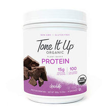 Tone It Up Organic Vegan Chocolate Protein Powder for Women | 100% Pea Protein Sugar Free Gluten Free | 15g of Protein | Kosher Non GMO | .77lbs