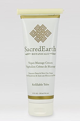 Vegan Massage Cream (8oz Tube)   Unscented, Water Dispersible, Nut Oil Free, Gluten Free And Contain