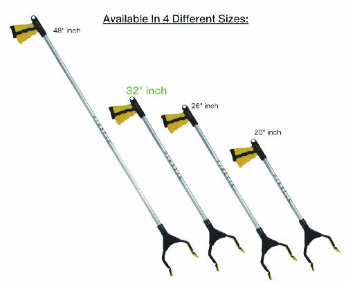 Pik Stik Pro P 321, Aluminum Reacher, Wide 5.5� Jaw, 360ⰠRotating Jaw, Durable And Rust Proof, Un