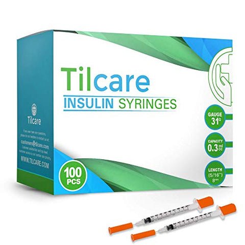 Tilcare Ultra Fine Insulin Syringes 31 G 0.3 cc 8mm 5/16