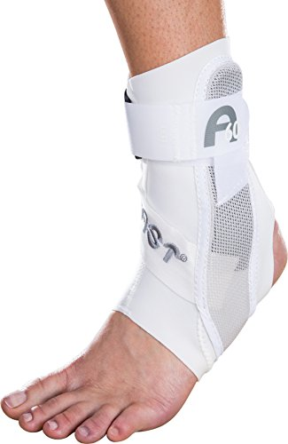 Aircast A60 Ankle Support Brace, Left Foot, White, Large (Shoe Size: Men's 12+ / Women's 13.5+)