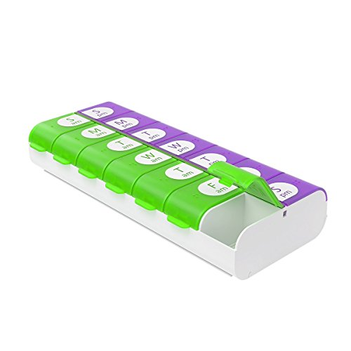 "Ezy Dose Easy Fill Weekly (7 Day) Pill Organizer And Planner ã¢â""â' Easy To Fill Pill Planner, Assor"