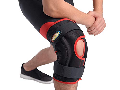 Maxar Airprene (Breathable Neoprene)  Warp-around Hinged Knee Brace, Size: XL