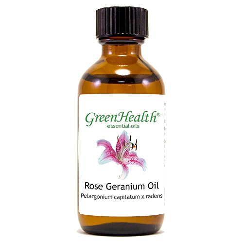 Rose Geranium â?? 2 Fl Oz (59 Ml) Glass Bottle W/Cap â?? 100% Pure Essential Oil â?? Green Health