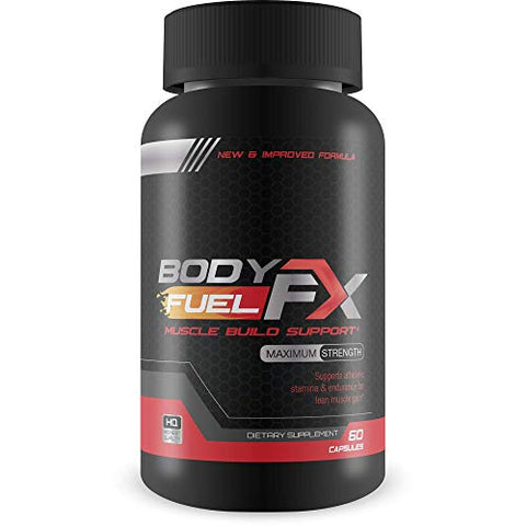 Body Fuel FX Muscle Build Support - Breakthrough NO Booster for Size, Endurance and Recovery