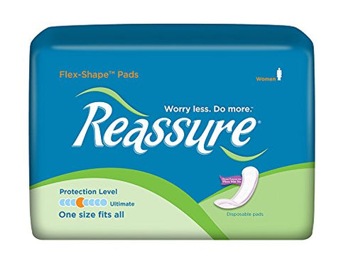 Reassure Flex-Shape Pads, Ultimate Absorbency - 1 Case (132 Total Count)