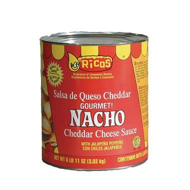 Rico's Cheddar Cheese Sauce 106oz (6lbs 10oz) Can (Pack of 1) Select Flavor Below (Gourmet Nacho)