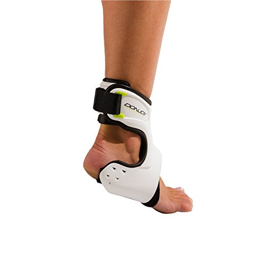 DonJoy Performance POD Ankle Brace, Best Support for Stability, Ankle Sprain, Roll, Strains for Football, Soccer, Basketball, Lacrosse, Volleyball -Small- Right -White