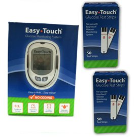 Easy Touch Glucose Monitor Kit Combo (Meter Kit and Test Strips 100ct)