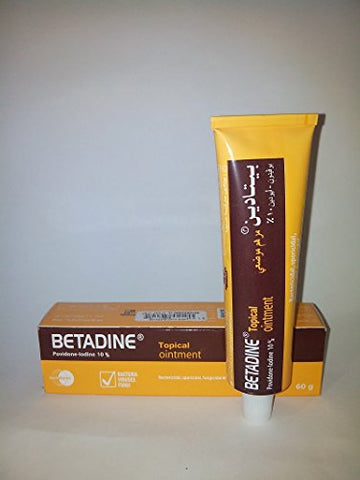 Betadine Povidone-Iodine Wound Topical Ointment 60 Grams