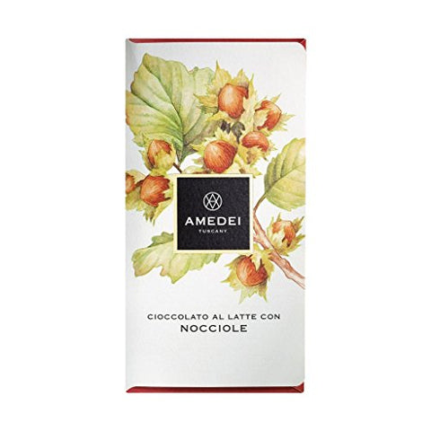 AMEDEI CHOCOLATE Bar Milk Chocolate Nocciole W Hazelnuts, 50 GR