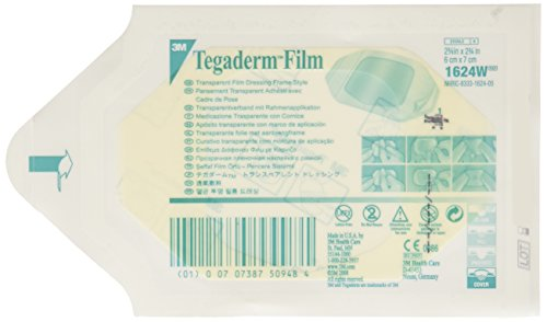 "3m Tegaderm Transparent Film Dressing 2.375"" x 2.75""/Picture Frame Style/Package of 20"