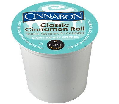 Cinnabon Classic Cinnamon Roll K-Cup Coffee 24 count, pack of 4
