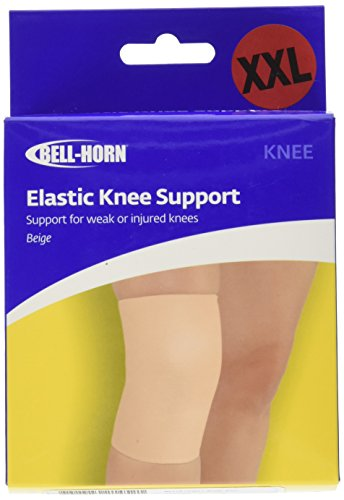 Bell-Horn Elastic Knee Support/Compression Sleeve, Beige, XX-Large