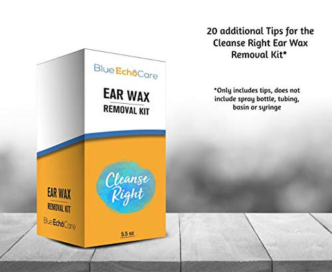 Cleanse Right Ear Wax Removal Kit- 20 Extra Disposable Tips!