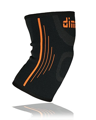dimok Athletic Knee Brace Compression Sleeve Leg Support for Lifting Running Crossfit Men Women Kids - Joint Pain Arthritis Meniscus Tear & Fast Recovery (Single, L)
