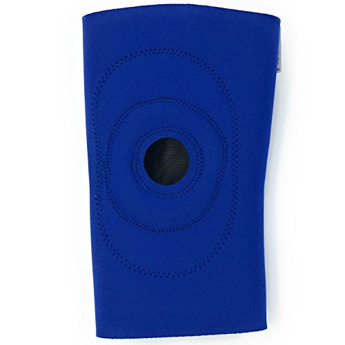 OTC Knee Support, Encircling Stabilizer Pad, Neoprene, Blue, Small
