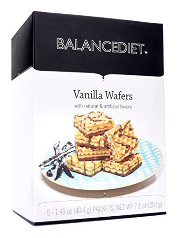 BalanceDiet | High Protein Vanilla Wafers | Healthy Snack or Dessert | 5 Pack