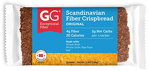 GG Scandinavian Bran Crispbread All Natural Bran Cracker Packages, 5 count, 3.5-Ounce Packages (Pack of 5)