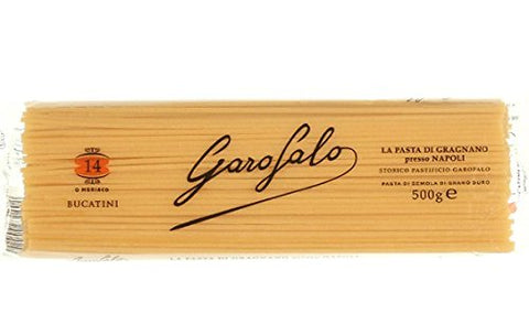 Garofalo No.14 Bucatini Semolina Pasta, 16 oz (6 Pack)