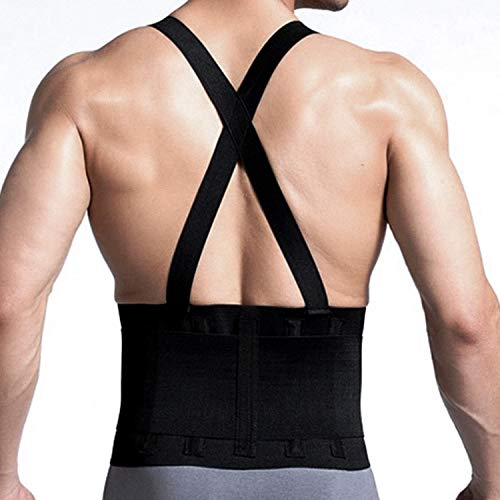 Cfr Back Brace Working Support With Suspenders Adjustable Straps Belt Lower Waist Therapy Pain Relie