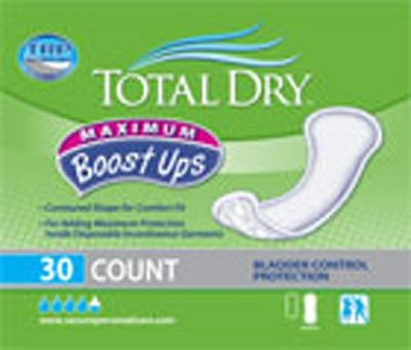 "Totaldry Boostups Max Pad 120packs (4bags x 30count), White - 6 1/4"" x 13 3/4"""