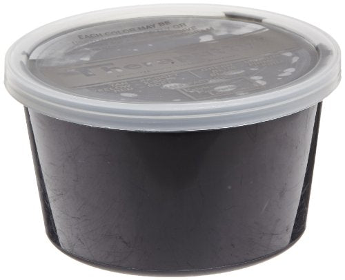 CanDo TheraPutty Standard Exercise Putty, Black: XFirm, 1 lb
