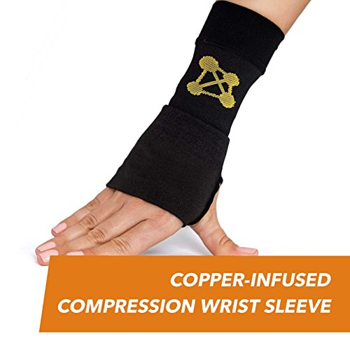 CopperJoint Compression Wrist Sleeve, Left (L)