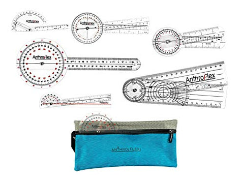 AnthroFlex Goniometer Set of 6 with Bag : 12