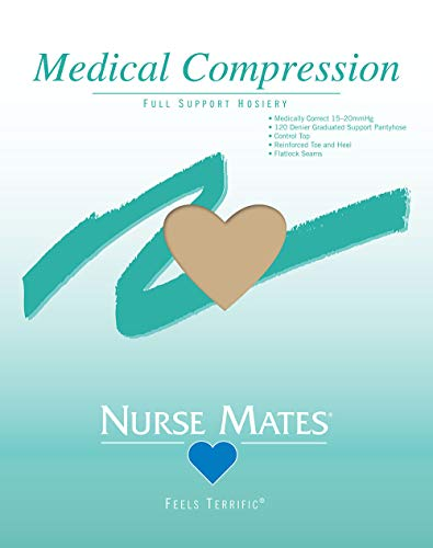 Nurse Mates Medical Compression Pantyhose 15-20mmHg, Nude