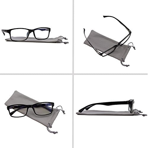 Computer Reading Glasses 3.00 White 2 Pack Protect Your Eyes Against Eye Strain, Fatigue and Dry Eyes from Digital Gear with Anti Blue Light, Anti UV, Anti Glare, and are Anti Reflective