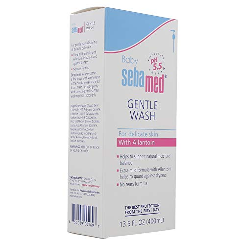 Sebamed Baby Gentle Wash Extra Soft Ultra Mild Hydrating Cleanser for Delicate Baby Skin 13.5 Fluid Ounces (400mL)