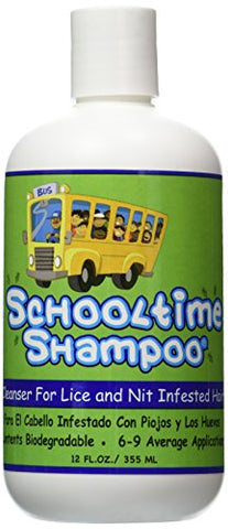 Schooltime Shampoo for Lice & Nit Removal-- Highly Effective After One 15 Minute Application