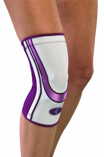 Mueller Lifecare for Her, Contour Knee, Plum, Large, 1-Count Box