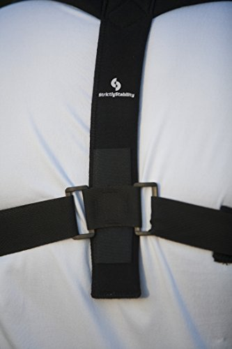 StrictlyStability Upper Back Posture Corrector Brace and Clavicle Support for Fractures, Sprains, and Shoulders (XXL)