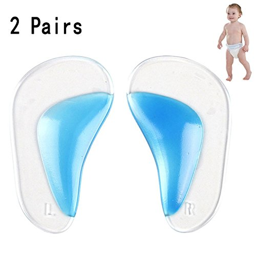 Lucktao Children 2 Pairs Orthotic Insole Flatfoot Corrector Arch Pain Support Gel Inserts Pads (L Size :9.5cm (3-5 Years))