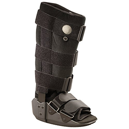 OTC Short Leg Adjustable Air Cast High Top Walker Boot, Black, Small/Tall