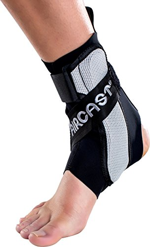 Aircast A60 Ankle Support Brace, Right Foot, Black, Large (Shoe Size: Men's 12+ / Women's 13.5+)