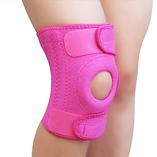 Luwint Neoprene Knee Brace, Open Patella Stabilizer with Adjustable Straps Knee Pads Support for Arthritis, ACL, Relieves Pain, Basketball, Sports, 1 Piece