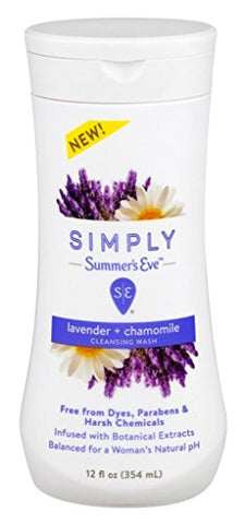 Summers Eve Simply Cleansing Wash 12 Ounce Lavender & Chamomile (354ml) (2 Pack)